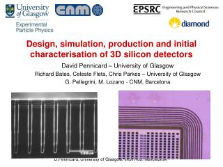 Design, simulation, production and initial characterisation of 3D silicon detectors