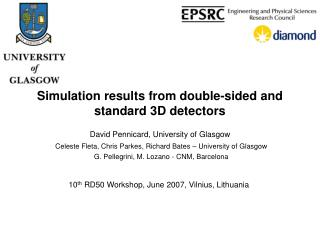 Simulation results from double-sided and standard 3D detectors