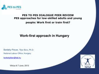 Borbély-Pecze , Tibor Bors , Ph.D. National Labour Office, Hungary   borbelytibor@lab.hu