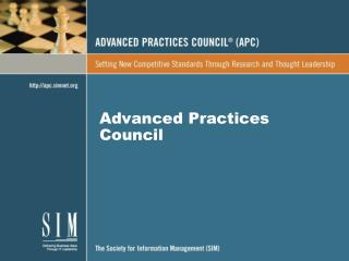 Advanced Practices Council