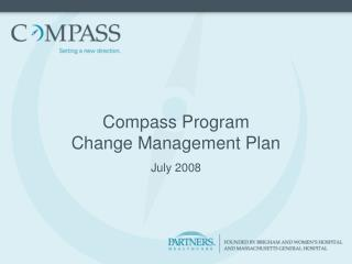Compass Program Change Management Plan