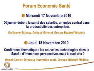 Forum Economie Santé