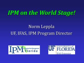 IPM on the World Stage!