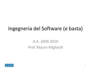 Ingegneria del Software (e basta)