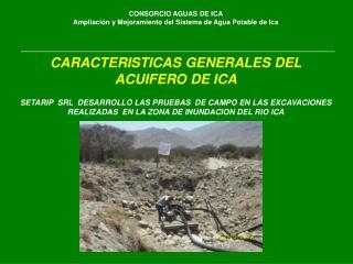 CONSORCIO AGUAS DE ICA Ampliación y Mejoramiento del Sistema de Agua Potable de Ica