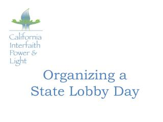 Organizing a  State Lobby Day