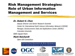 Risk Management Strategies: Role of Urban Information Management and Services