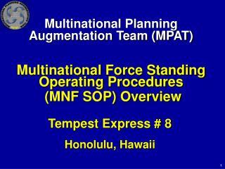 Tempest Express # 8 Honolulu, Hawaii