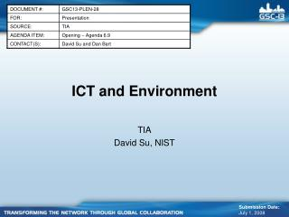 ICT and Environment