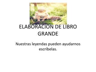 ELABORACION DE LIBRO GRANDE