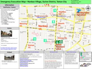 Emergency Evacuation Map—Nanbao Village, Guiren District, Tainan City