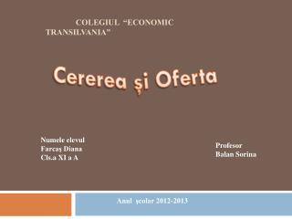 """Colegiul  """"Economic Transilvania"""""""