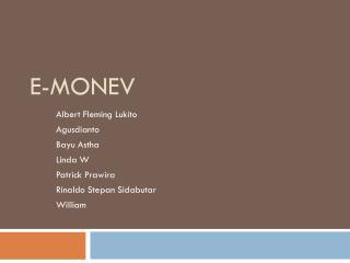 E- Monev