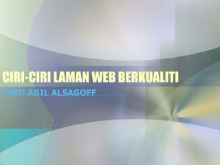 CIRI-CIRI LAMAN WEB BERKUALITI