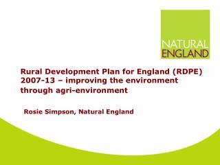 Rosie Simpson, Natural England