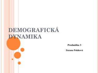 Demografická  dynamika