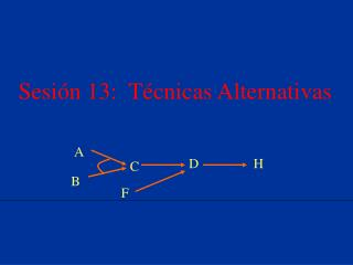 Sesión 13:  Técnicas Alternativas