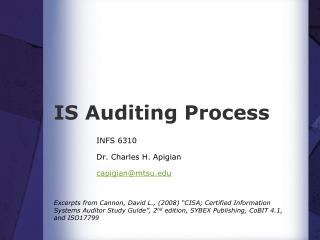 IS Auditing Process