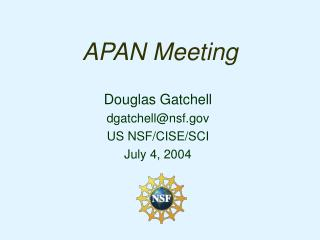 APAN Meeting