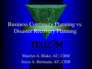 Business Continuity Planning vs. Disaster Recovery Planning