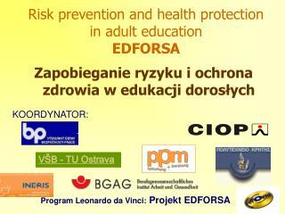 Zapobieganie ryzyku i ochrona zdrowia w edukacji dorosłych