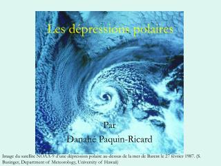 Les dépressions polaires