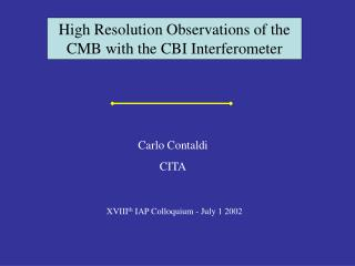 High Resolution Observations of the CMB with the CBI Interferometer
