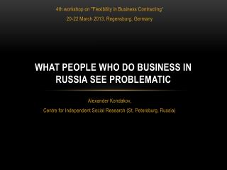 What People Who Do Business in Russia See Problematic