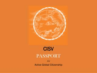 CISV PASSPORT for Active Global Citizenship