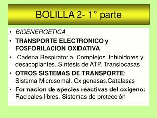 BOLILLA 2- 1� parte