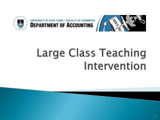Large Class Teaching Intervention