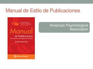 Manual de Estilo de Publicaciones