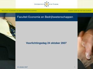 Faculteit Economie en Bedrijfswetenschappen