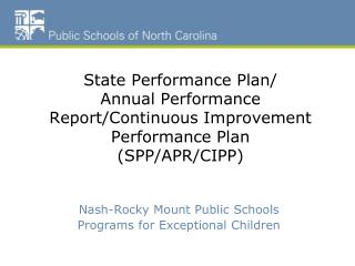 Nash-Rocky Mount Public Schools Programs for Exceptional Children
