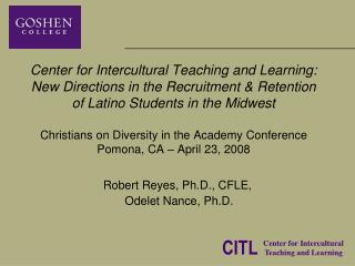 Robert Reyes, Ph.D., CFLE,   Odelet Nance, Ph.D.