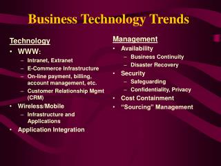 Business Technology Trends