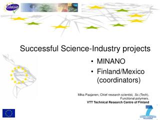 Successful Science-Industry projects