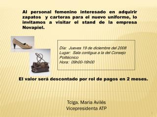 Tclga .  Maria  Avilés Vicepresidenta ATP