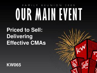 Priced to Sell: Delivering Effective CMAs