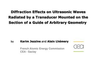 Diffraction Effects on Ultrasonic Waves