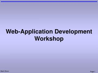Web-Application Development Workshop
