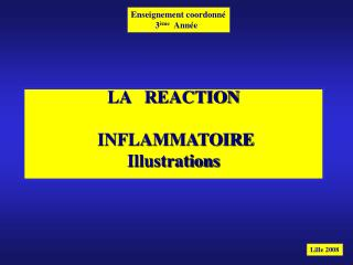 LA   REACTION INFLAMMATOIRE Illustrations