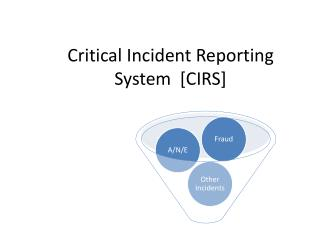 Critical Incident Reporting System  [CIRS]