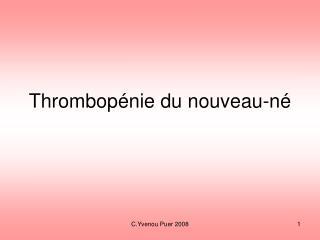 Thrombopénie du nouveau-né