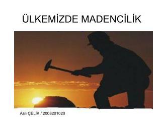 ÜLKEMİZDE MADENCİLİK