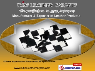 Leather Carpets by Sharon Impex Overseas Private Limited Kan