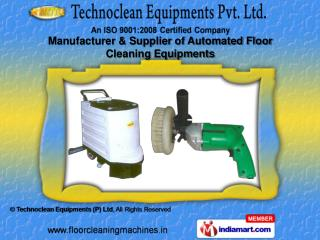Floor Sweepers by Technoclean Equipments (P) Ltd. Noida