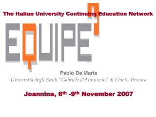 The  Italian  University Continuing Education Network