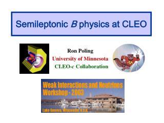 Semileptonic  B  physics at CLEO