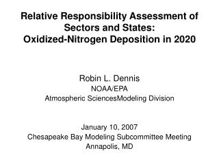 Relative Responsibility Assessment of Sectors and States: Oxidized-Nitrogen Deposition in 2020